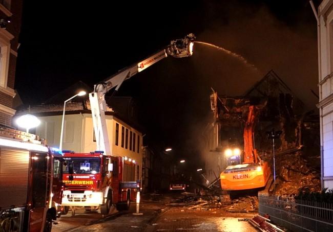 Abriss Haus Großbrand Helmstedt