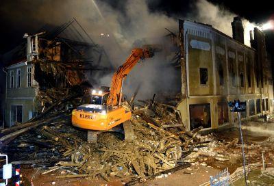 Abriss Haus Großbrand Helmstedt Februar 2015